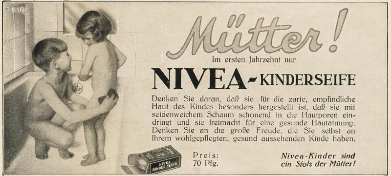 10 x Original-Werbung / Anzeigen 1912-1930 - NIVEA - UNTERSCHIEDLICHE GRÖSSEN