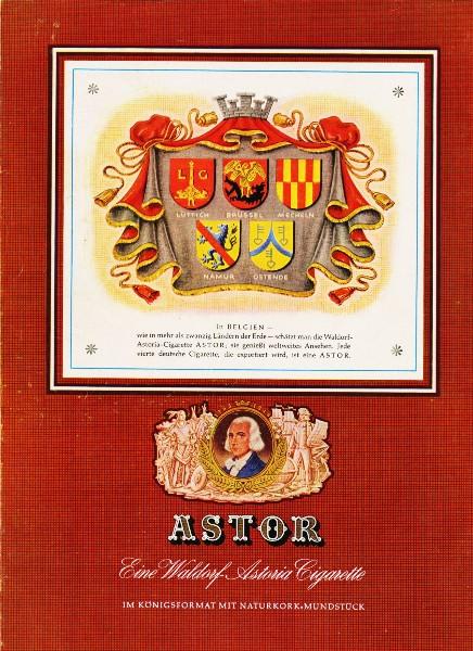 10 x Original-Werbung/ Anzeige 1950 - 1959 - ASTOR CIGARETTEN / TABAK - GANZE SEITEN