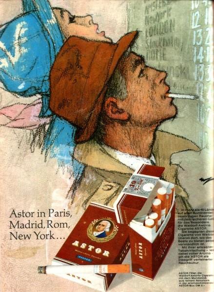 10 x Original-Werbung/ Anzeige 1953 - 1969 - ASTOR CIGARETTEN / TABAK - GANZE SEITEN