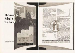 10 x Original-Werbung/ Anzeige 1956 - 1969 - HOESCH / DORTMUND - GANZSEITEN