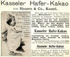 10 x Original-Werbung / Anzeigen 1895 - 1910 - KASSELER HAFER KAKAO - VERSCHIEDENE GRÖSSEN