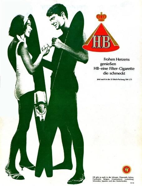 10 x Original-Werbung/ Anzeige 1959 bis 1969 - HB HAUS BERGMANN CIGARETTEN / ZIGARETTEN - UNTERSCHIEDLICHE GRÖSSEN ( 9 GANZSEITEN)