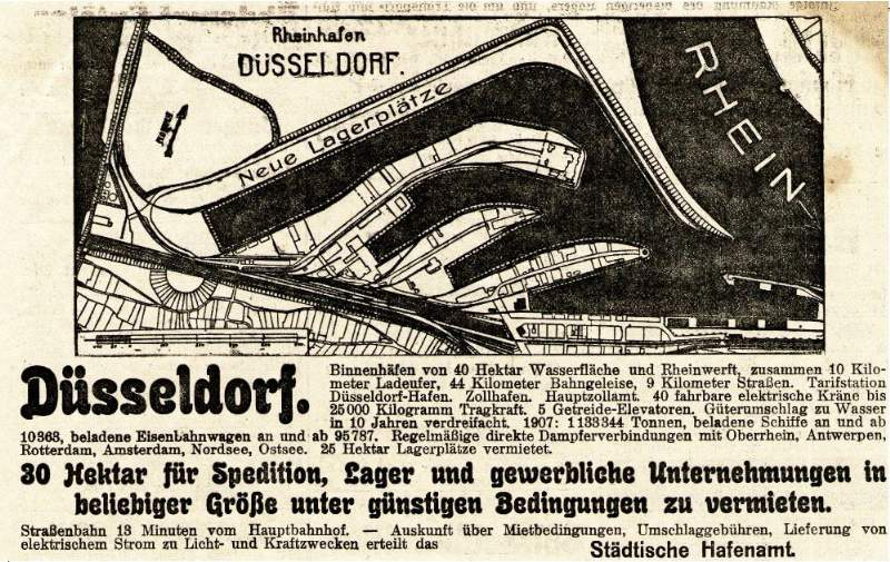 10 x Original-Werbung/ Anzeige 1886 bis 1924 - MOTIVE / FIRMEN AUS DÜSSELDORF - UNTERSCHIEDLICHE GRÖSSEN