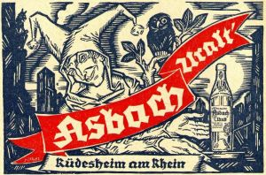 10 x Original-Werbung / Anzeigen 1920 ER JAHRE - ASBACH URALT - VERSCHIEDENE GRÖSSEN