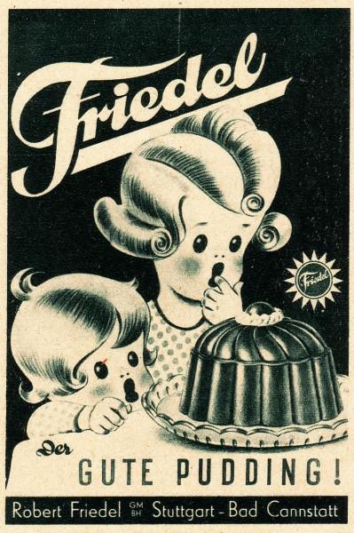 10 x Original-Werbung/ Anzeige 1900 bis 1950 - PUDDING VERSCHIEDENE MARKEN - Größe unterschiedlich