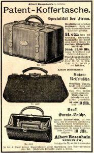 10 x Original-Werbung/ Anzeige 1895 bis 1899 - KOFFER / REISETASCHEN - UNTERSCHIEDLICHE GRÖSSEN