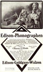 10 x Original-Werbung/ Anzeige 1895 bis 1912 - EDISON PHONOGRAPHEN - UNTERSCHIEDLICHE GRÖSSEN