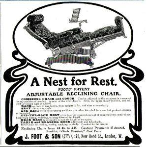 10 x Original-Werbung/ Anzeige 1903 bis 1958 - STÜHLE - Größe unterschiedlich