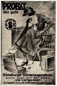 10 x Original-Werbung/ Anzeige 1895 bis 1942 - FUSSPFLEGE - Größe unterschiedlich