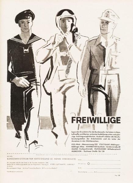 10 x Original-Werbung/ Anzeigen 1956 BIS 1969 - BUNDESWEHR - GANZE SEITEN  0
