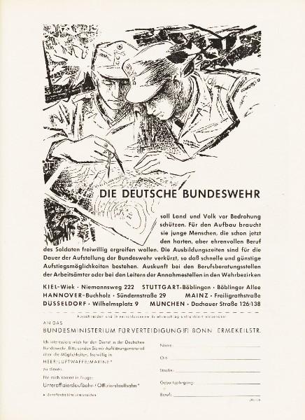 10 x Original-Werbung/ Anzeigen 1956 BIS 1969 - BUNDESWEHR - GANZE SEITEN  1