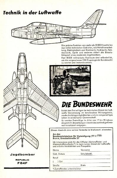 10 x Original-Werbung/ Anzeigen 1956 BIS 1969 - BUNDESWEHR - GANZE SEITEN  3