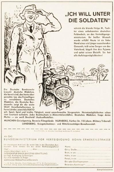 10 x Original-Werbung/ Anzeigen 1956 BIS 1969 - BUNDESWEHR - GANZE SEITEN  4