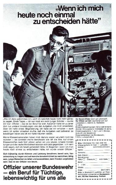 10 x Original-Werbung/ Anzeigen 1956 BIS 1969 - BUNDESWEHR - GANZE SEITEN  5