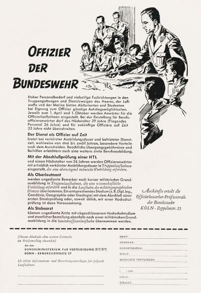 10 x Original-Werbung/ Anzeigen 1956 BIS 1969 - BUNDESWEHR - GANZE SEITEN  6
