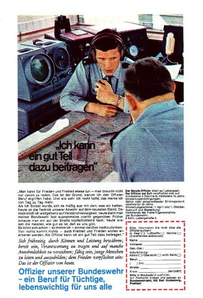 10 x Original-Werbung/ Anzeigen 1956 BIS 1969 - BUNDESWEHR - GANZE SEITEN  7