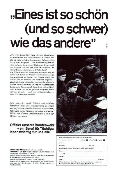 10 x Original-Werbung/ Anzeigen 1956 BIS 1969 - BUNDESWEHR - GANZE SEITEN  9