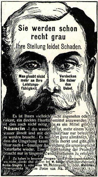 10 x Original-Werbung/ Anzeige 1895 bis 1924 - HAARE / HAARFÄRBE-MITTEL - Größe unterschiedlich