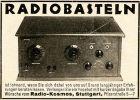 10 x Original-Werbung/ Anzeige 1928 bis 1939 - KOSMOS / KOSMODYN RADIOS - UNTERSCHIEDLICHE GRÖSSEN