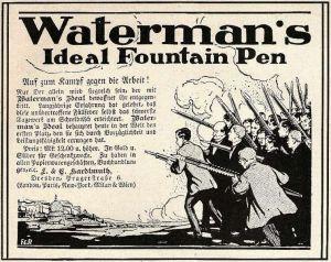 10 x Original-Werbung/ Anzeige 1897 bis 1911 - WATERMAN''''S PEN / FÜLLFEDERHALTER / VERSCHIEDENE GRÖSSEN