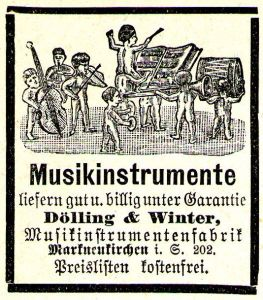 10 x Original-Werbung/ Anzeige 1893 bis 1920 - MUSIKINSTRUMENTE AUS MARKNEUKIRCHEN - UNTERSCHIEDLICHE GRÖSSEN
