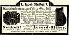 10 x Original-Werbung/ Anzeige 1890 bis 1931 - MUSIK /  MUSIKINSTRUMENTE AUS STUTTGART - UNTERSCHIEDLICHE GRÖSSEN