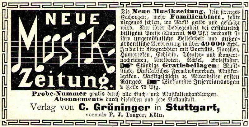 10 x Original-Werbung/ Anzeige 1890 bis 1931 - MUSIK /  MUSIKINSTRUMENTE AUS STUTTGART - UNTERSCHIEDLICHE GRÖSSEN 2