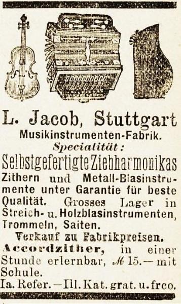 10 x Original-Werbung/ Anzeige 1890 bis 1931 - MUSIK /  MUSIKINSTRUMENTE AUS STUTTGART - UNTERSCHIEDLICHE GRÖSSEN 4