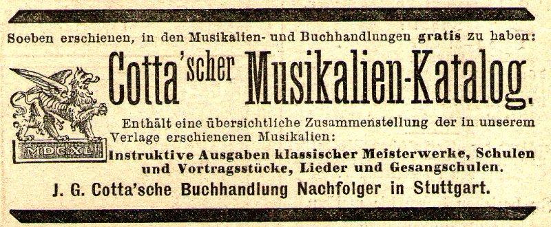 10 x Original-Werbung/ Anzeige 1890 bis 1931 - MUSIK /  MUSIKINSTRUMENTE AUS STUTTGART - UNTERSCHIEDLICHE GRÖSSEN 5