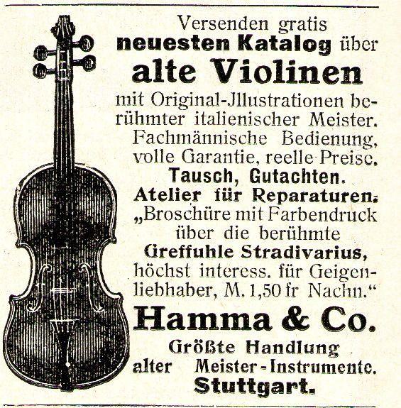 10 x Original-Werbung/ Anzeige 1890 bis 1931 - MUSIK /  MUSIKINSTRUMENTE AUS STUTTGART - UNTERSCHIEDLICHE GRÖSSEN 7
