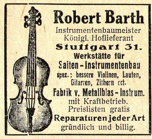 10 x Original-Werbung/ Anzeige 1890 bis 1931 - MUSIK /  MUSIKINSTRUMENTE AUS STUTTGART - UNTERSCHIEDLICHE GRÖSSEN 8