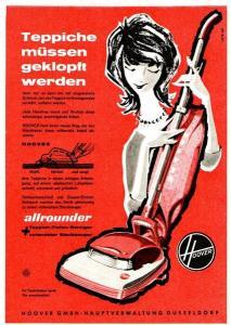 10 x Original-Werbung/ Anzeige 1957 bis 1964 - HOOVER - Größe unterschiedlich