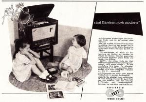10 x Original-Werbung/ Anzeige 1955 bis 1958 - TEFI RADIO / TEFIFON / TEFI-WERK - KÖLN / UNTERSCHIEDLICHE GRÖSSEN