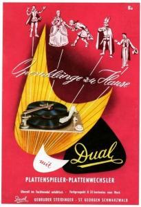 10 x Original-Werbung/ Anzeige 1953 - 1964 - DUAL PLATTENSPIELER / HIFI / STEIDINGER - ST.GEORGEN