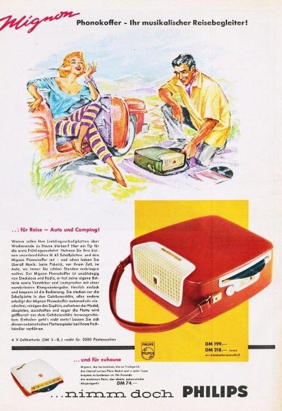 10 x Original-Werbung/ Anzeige 1938 BIS 1966 - PHILIPS / GANZE SEITEN 0