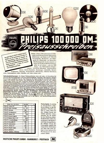 10 x Original-Werbung/ Anzeige 1938 BIS 1966 - PHILIPS / GANZE SEITEN 1