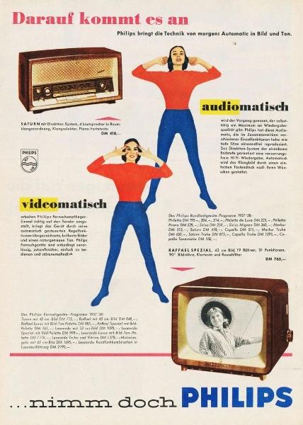 10 x Original-Werbung/ Anzeige 1938 BIS 1966 - PHILIPS / GANZE SEITEN 2
