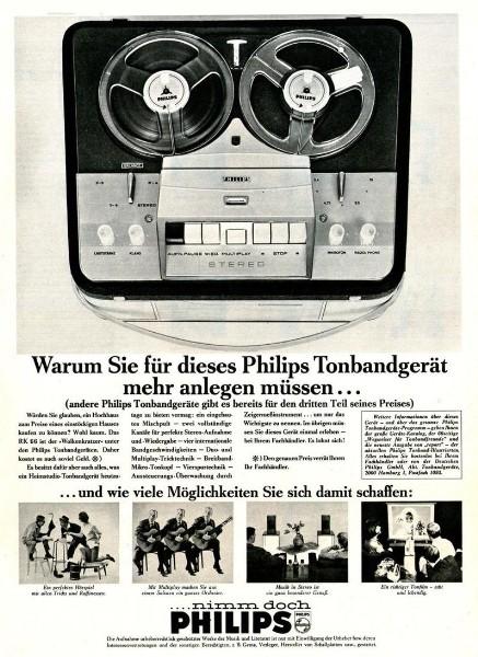 10 x Original-Werbung/ Anzeige 1938 BIS 1966 - PHILIPS / GANZE SEITEN 3
