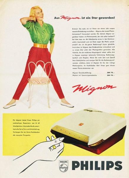 10 x Original-Werbung/ Anzeige 1938 BIS 1966 - PHILIPS / GANZE SEITEN 5