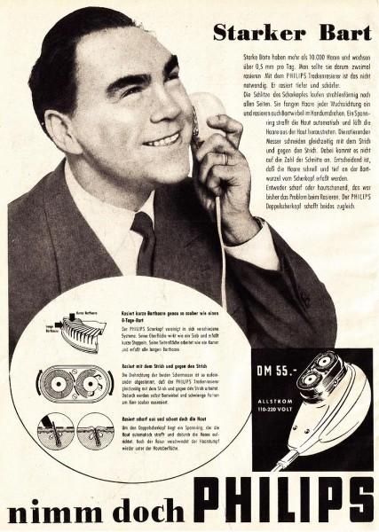 10 x Original-Werbung/ Anzeige 1938 BIS 1966 - PHILIPS / GANZE SEITEN 6