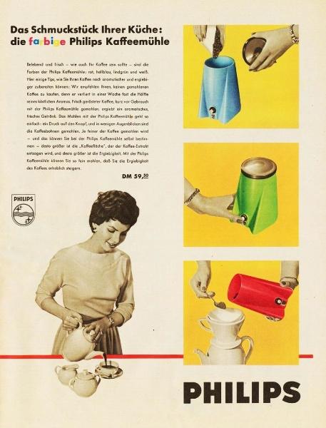 10 x Original-Werbung/ Anzeige 1938 BIS 1966 - PHILIPS / GANZE SEITEN 7