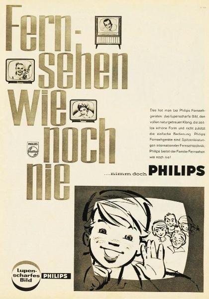 10 x Original-Werbung/ Anzeige 1938 BIS 1966 - PHILIPS / GANZE SEITEN 8