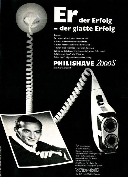 10 x Original-Werbung/ Anzeige 1938 BIS 1966 - PHILIPS / GANZE SEITEN 9