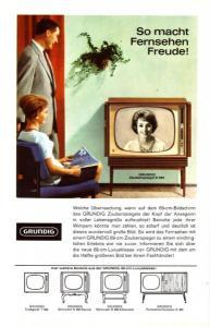 10 x Original-Werbung/ Anzeige 1950 - 1973 - GRUNDIG / GANZSEITEN