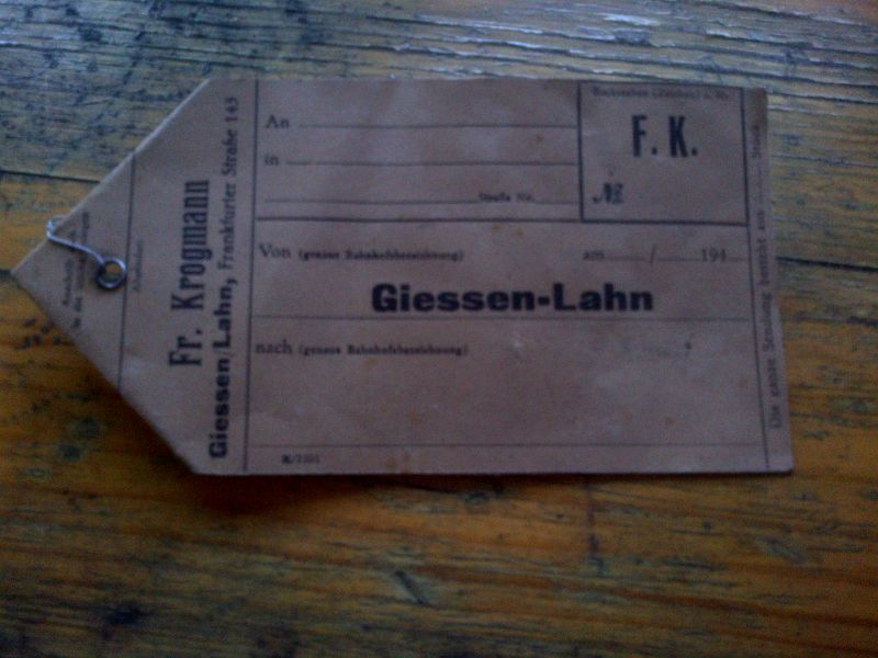 Deutsche Reichsbahn, Transportschein \