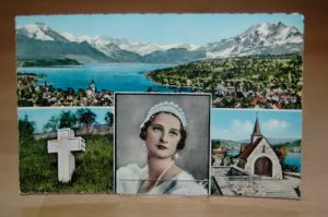 Colorierte AK Schweiz  Küssnacht am Rigi Gedächtniskapelle Königin Astrid von Belgien Schwyz   0