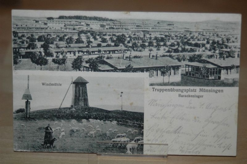 AK Truppenübungsplatz Münsingen 1917 Stempel Übungsplatz Baden Württemberg