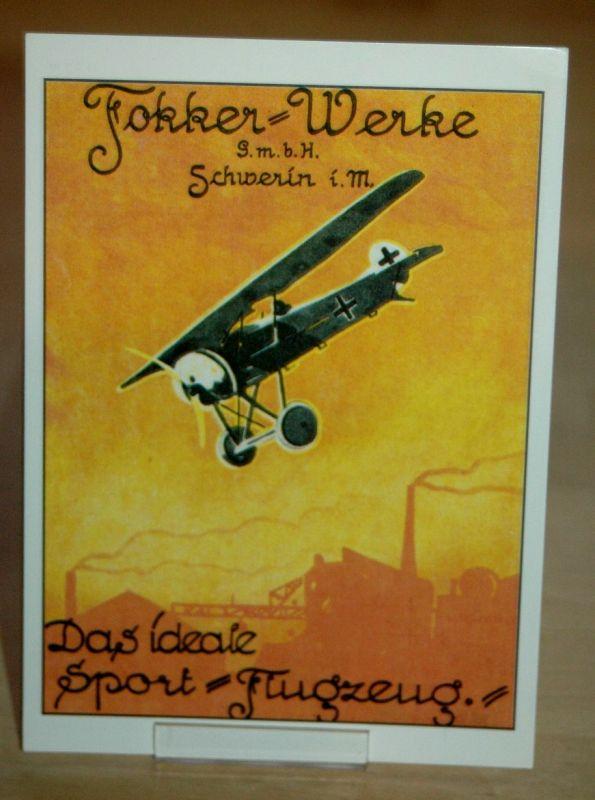 AK Fokker Werke Flugzeug