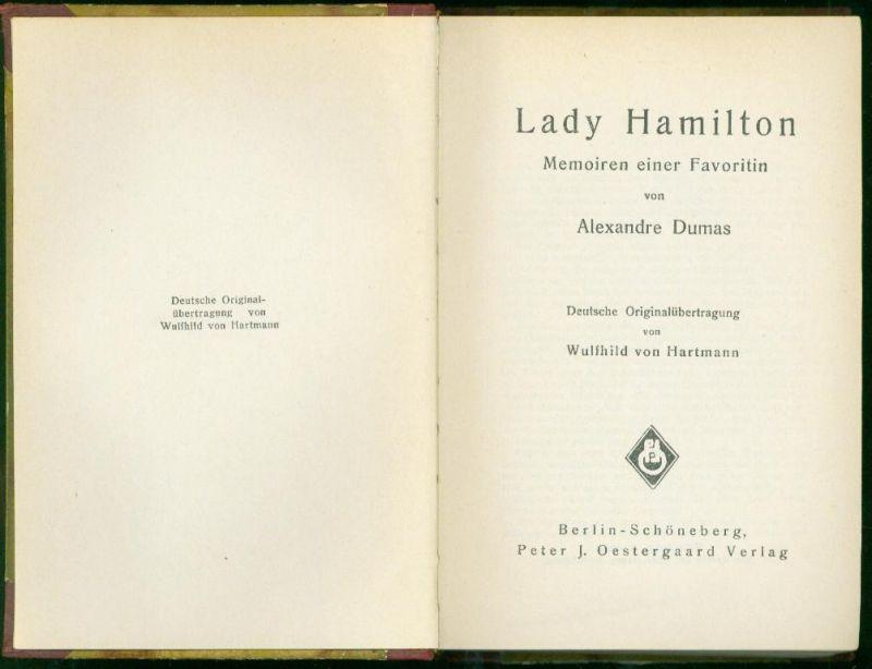 Alexandre Dumas - Lady Hamilton