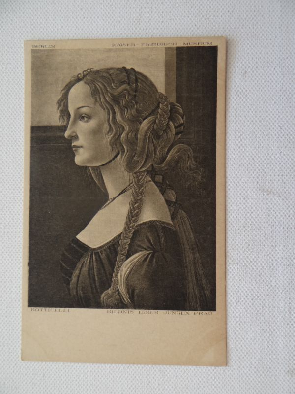 Berlin Museum Botticelli Bildnis einer jungen Frau